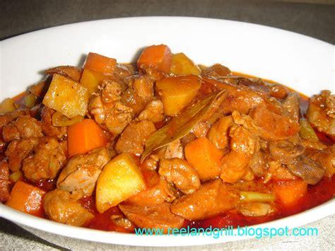 menudo recipe reel and grill filipino menudo recipe pork liver stewed with potato and carrot