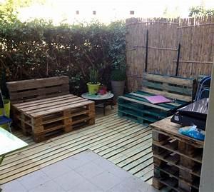 Acheter Meuble En Palette Bois : d tournons ensemble des palettes en terrasse et salon de ~ Premium-room.com Idées de Décoration