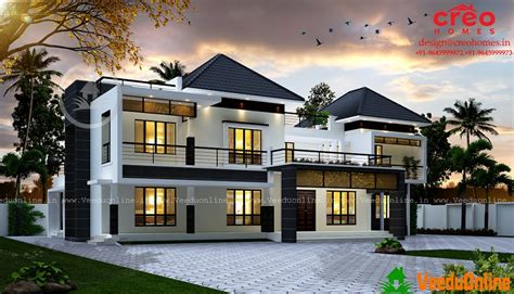 Images Of Model Homes Interiors - 3688 sq ft double floor contemporary home design veeduonline