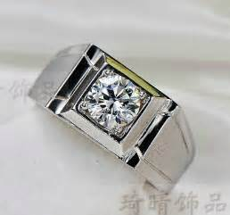 mens silver wedding rings aliexpress buy luxury supply 925 silver 1 carat sona simulated engagement rings