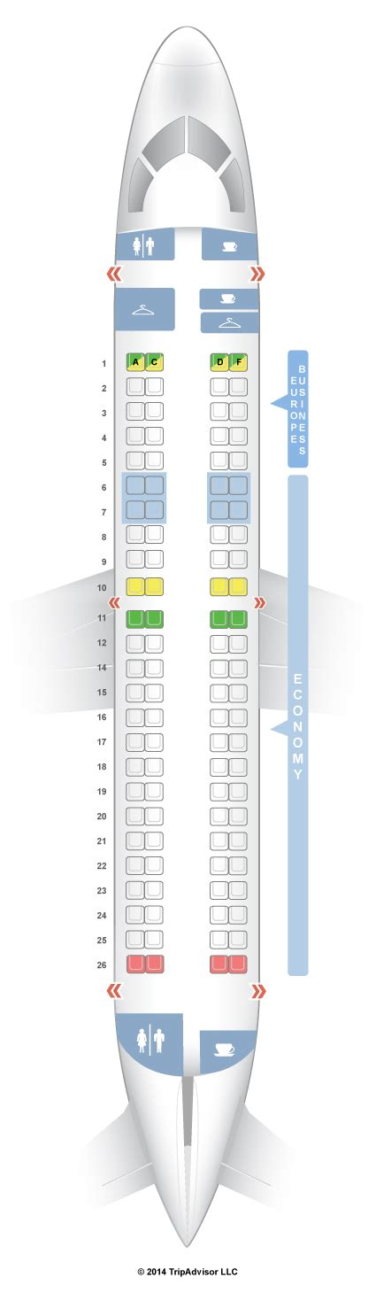 siege business air seatguru seat map klm embraer e 190