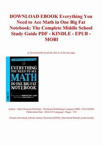 Download Ebook Everything You Need To Ace Math In One Big