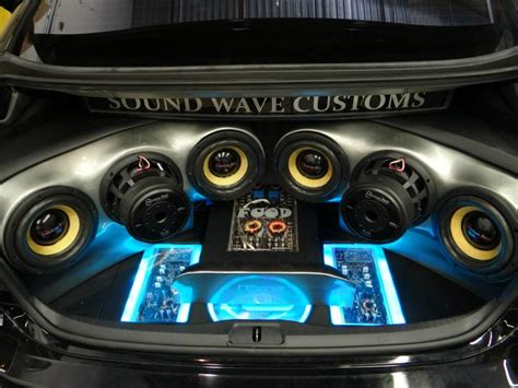 mirror for glass car audio sound wave customs