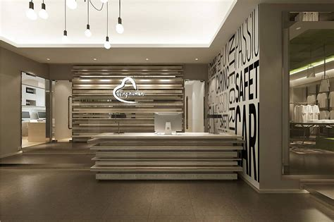 industrial style desk office corporate interior designers commercial
