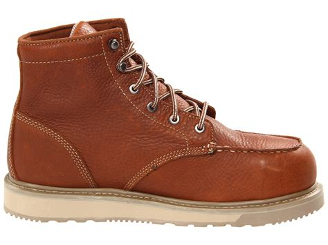 timberland safety ring timberland barstow wedge safety toe in brown for rust