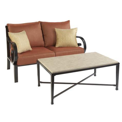 Allen Roth Patio Furniture by Allen Roth Pardini Patio Wicker Loveseat Sofa Table Set