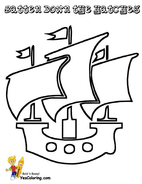 Pirate Ship Sail Template by Sails Coloring Pages