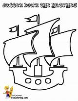 Pirate Coloring Pages Ship Template Printable Ships Pirates Sails Easy Boat Preschool Templates Boats Boys Brigantine Yescoloring Seas sketch template