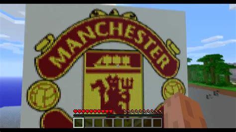 Manchester United Crest / Logo - Minecraft Pixel Art - YouTube