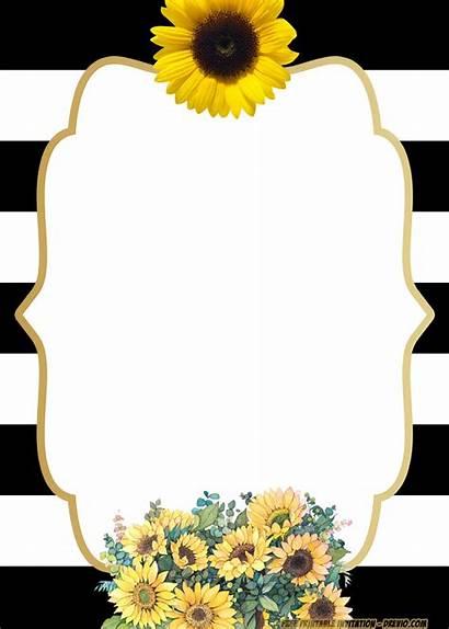 Invitation Templates Birthday Sunflower Printable Invitations Flower
