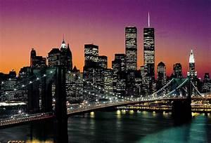 New York City Skyline with Brooklyn Bridge & WTC Classic o Flickr