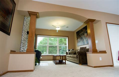 family room column wraps traditional living room