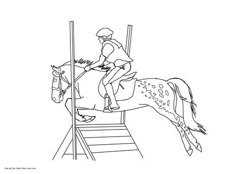 Jumping Horse Coloring Pages Coloring Pages For Free