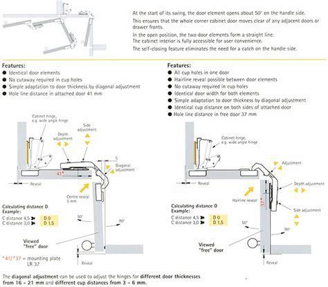 045038 Clip On Concealed Hinge for Corner Cabinet Bi Fold