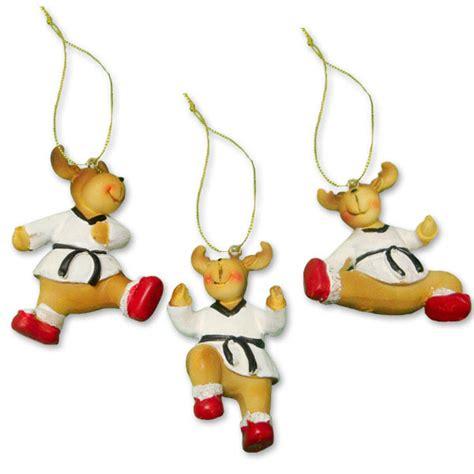 tae qan do christmas ornaments taekwondo reindeer ornament set martial ornaments tae kwon do decorations