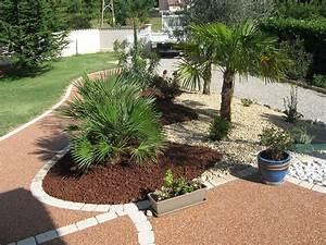 ordinaire modele de jardin avec galets 5 de parterre With modele de jardin avec galets