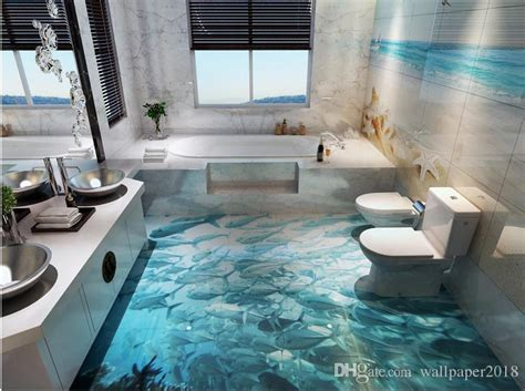 wallpapers  wall dolphin surf ocean world  bathroom