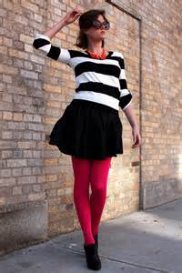 Black Girl Wearing Red Dress with Tights