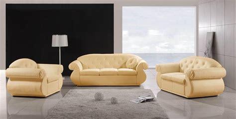 ensemble canape cuir salon empoli creme ensemble de canape 6 places creme 215x85 160x85 120x85