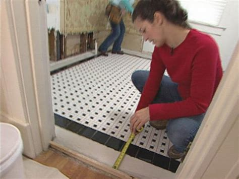How To Install Floor Tile In Bathroom by How To Install A Mosaic Tile Floor How Tos Diy