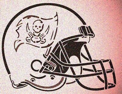 tampa bay buccaneers helmet stencil mylar sport football