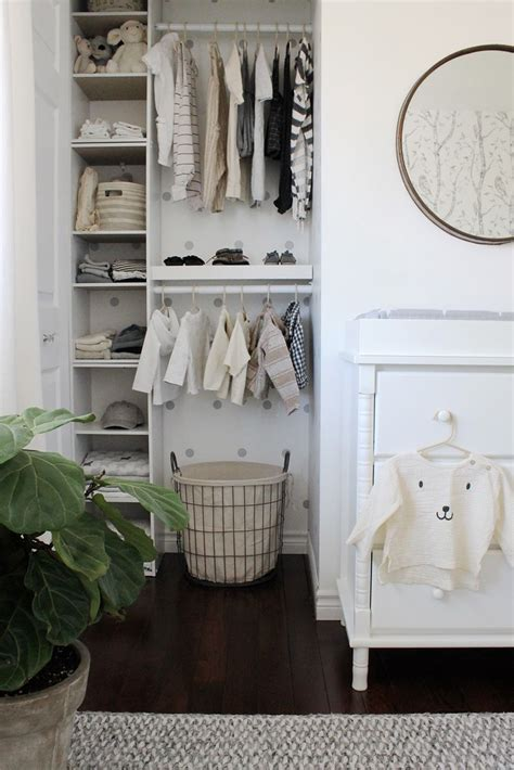 Closet Organization Project Ideas by Now This Is How To Organize A Nursery Closet White