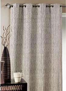 Tringle Double Rideau : double rideau ameublement faux uni taupe prune ~ Premium-room.com Idées de Décoration