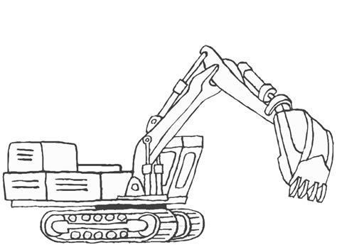 Coloring Excavator by Excavator Coloring Pages To And Print For Free