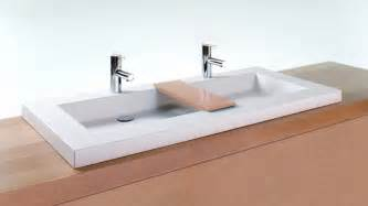 Hole In Bathroom Sink by Vcs48 48 Quot Bathroom Double Trough Sink Cube Collection