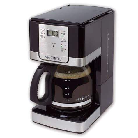 Programmable timer allows you to set brew time up to 24 hours in advance. Mr. Coffee 12-Cup Programmable Brushed Coffee Maker - Shop ...