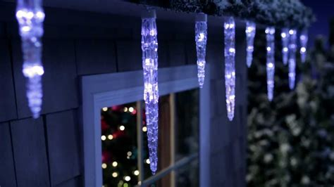 blue led icicle light set 350 count philips color changing icicle light set youtube