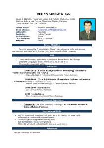 professional resume format for freshers curriculum vitae sle download template resume builder