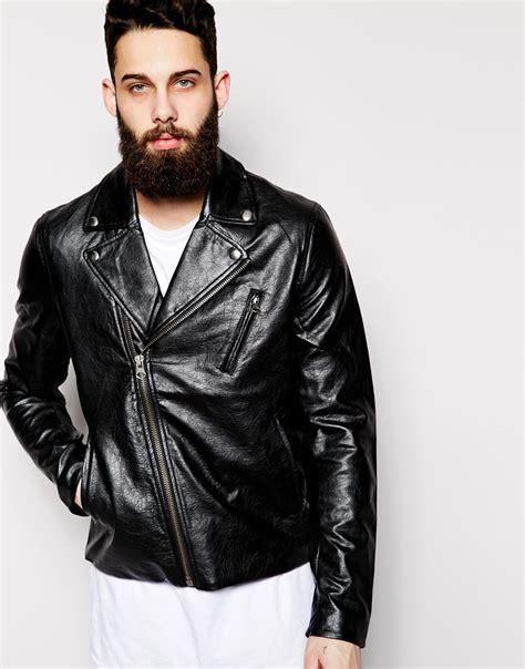cheap biker jackets lyst cheap monday faux leather biker jacket triple a