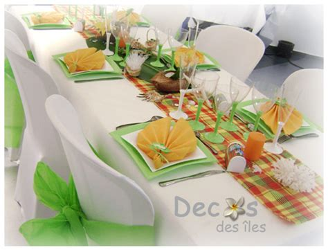 decoration mariage antillais madras traditionnel rouge jaune