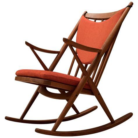 vintage bramin teak rocking chair for sale at 1stdibs