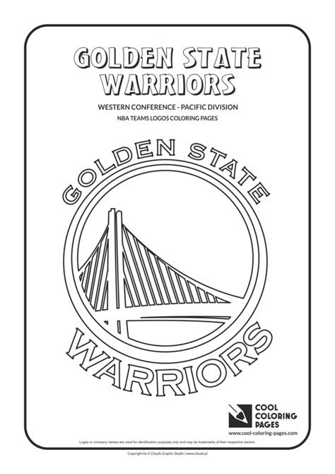 cool coloring pages golden state warriors nba basketball teams logos coloring pages cool