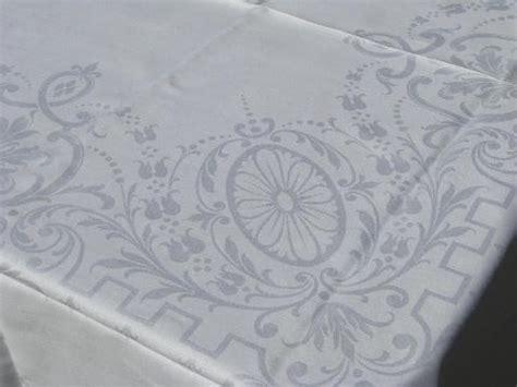 irish damask table linens lot antique vintage irish linen cotton damask table