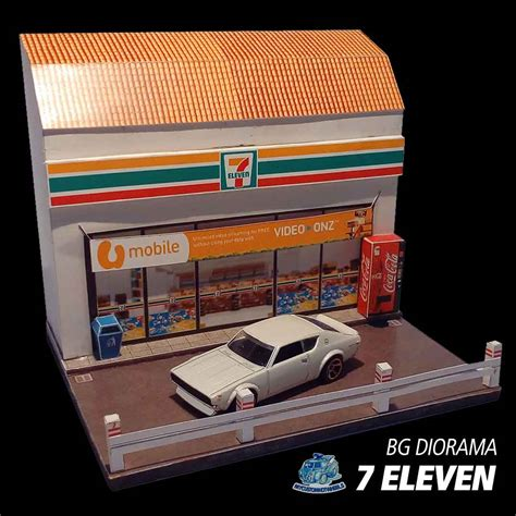 shops stores  diorama buildings  hot wheels