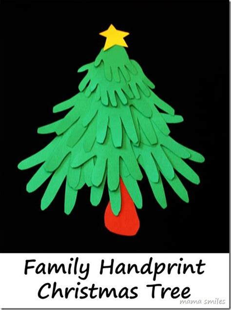 fun christmas crafts family handprint christmas tree