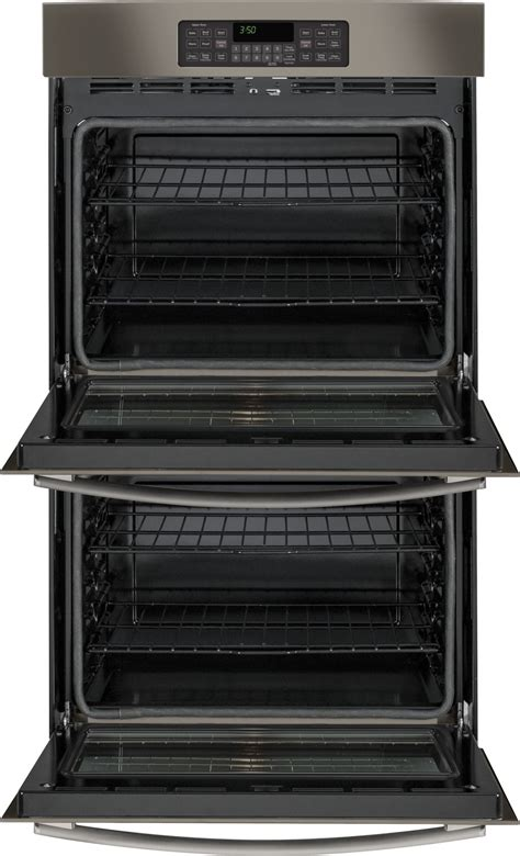 jtejes ge  built  double wall oven slate