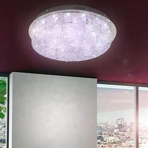 Kristall Wand Leuchte Wohnzimmer Decken Lampe Licht Bunt