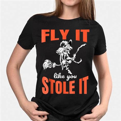 stole witch halloween fly