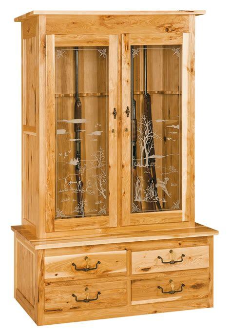 Double Door Gun Cabinet  Amish Furniture Store  Mankato, Mn