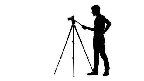 12238 photographer tripod silhouette flat style animated angry janitor cleaner