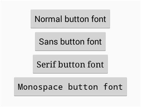 change font style for android change button above text font style in android android