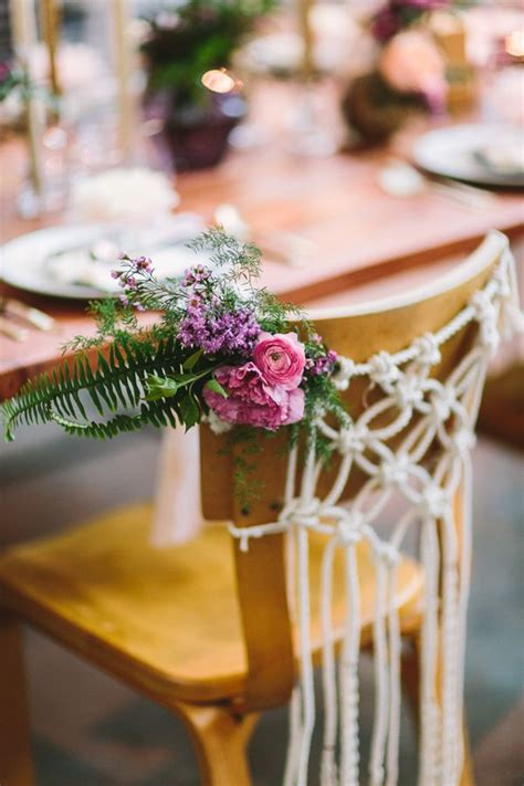 boho wedding ideas  macrame details