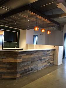 Recycled pallet and reclaimed wood paneling - Rustic