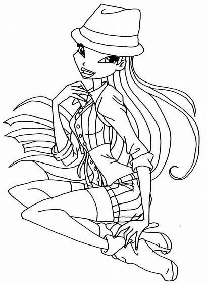 Winx Coloring Musa Pages Season Club Awesome