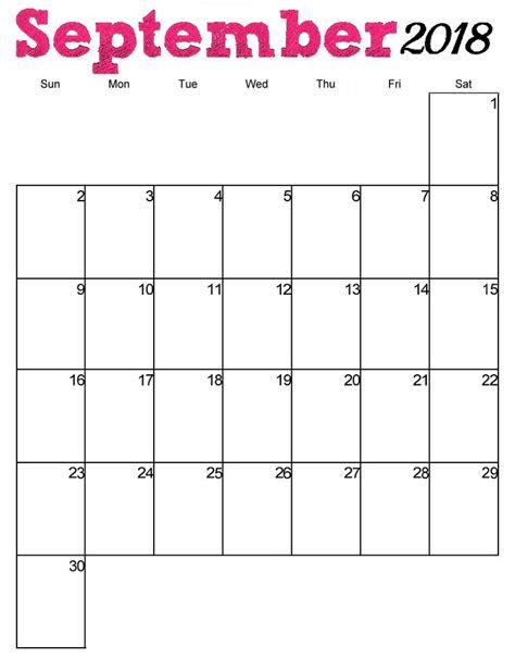 printable september  vertical calendar
