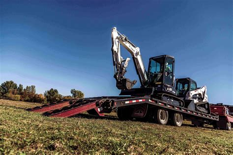 transporting  compact excavator safely  securely